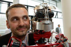 Elevator Pitch der Stiftung fŸr Technologie, Innovation und Forschung ThŸringen am 14.06.16 in Erfurt. Im Bild: Ben Schaefer, H&S Robots. Foto: Candy Welz