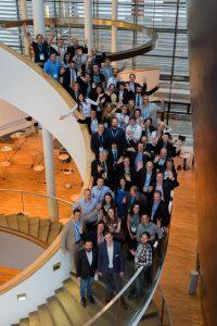 Elevator Pitch der Stiftung für Technologie, Innovation und Forschung Thüringen am 14.06.16 in Erfurt. Im Bild: Pitcher, Teilnehmer Innovationsarena und Organisatoren. Foto: Candy Welz